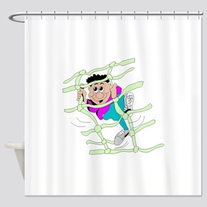 Obstacle Course Shower Curtain